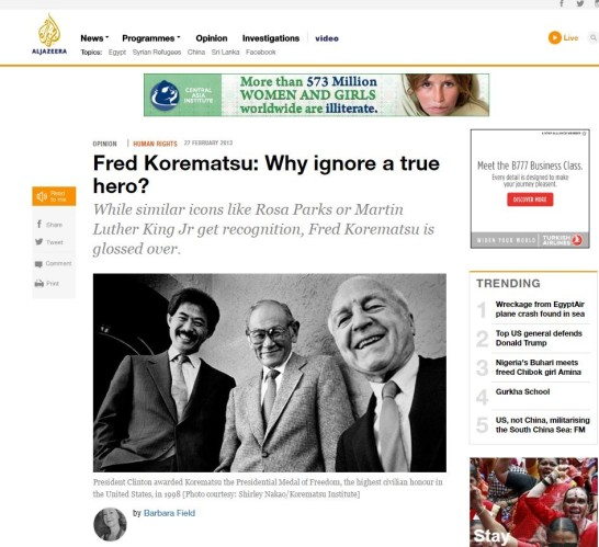 Fred Korematsu Article