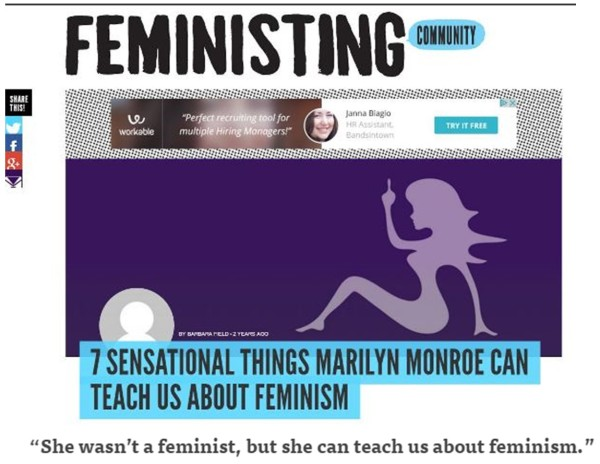 Marylin Monroe Feministing