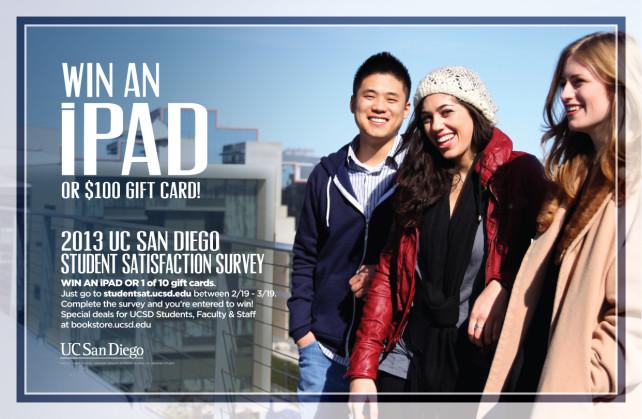 Sample UCSD Survey Promo 2013